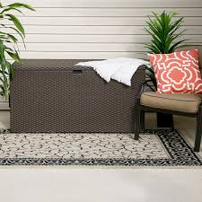 amazon com arrow spacemaker deck box basket weave java garden