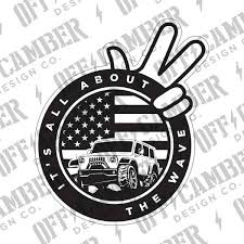 jeep wave sticker mirror products alphavinyl