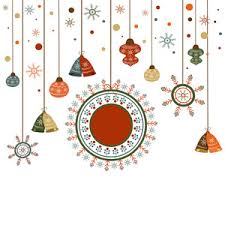 merry celebration greeting card design decorated with