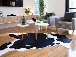 mocka faux cowhide rug living room decor