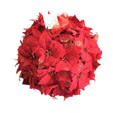 home accents holiday 14 5 in dried floral wreath red glittered