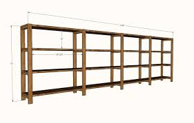 Free Wooden Shelf Plans by Ana White Easy Economical Garage Shelving From 2x4s Diy Projects