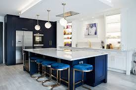 white kitchen cabinets with blue island best kitchens in classic blue try out the trendiest color
