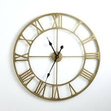 horloge pour cuisine moderne pendule cuisine moderne horloge en mactal coloris laiton zivos la