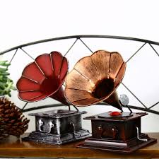 2017 zakka retro phonograph handmade vintage home decor metal