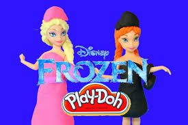 play doh frozen dolls magic clip elsa anna disney frozen