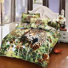 Egyptian Cotton Duvet Cover King Size Manly Leopard Oil Painting Bedding Bedspreads For Full Queen Beds