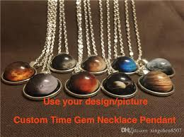 custom necklace pendants wholesale customized time gem necklace pendant women sweater chain