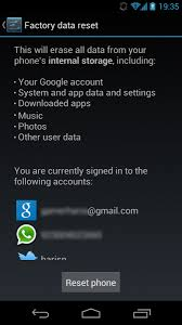 how to reset android how to reset phone remove data before selling android