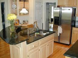 white oak wood espresso glass panel door kitchen island design