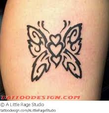 leg black tribal butterfly tattooshunt com