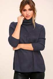 turtle neck sweaters chic navy blue sweater turtleneck sweater knit sweater
