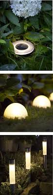 solar lights for garden path home outdoor decoration