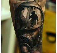helmet tattoos designs and ideas page 109 realistic fire