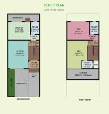 row house plans in 800 sq ft india