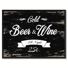beer home decor fresh beer u0026 wine vintage sign home decor wall art gift ideas