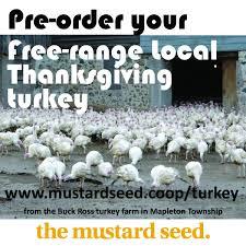 thanksgiving free range local turkey pre orders