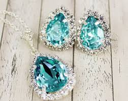 turquoise bridal earrings teal bridal jewelry etsy