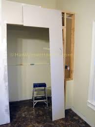 how to build a basement closet plywood cap installation