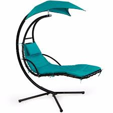 Swing Chair Patio Patio Swing Chair Lounger Hammock Sun Canopy Blue Walmart