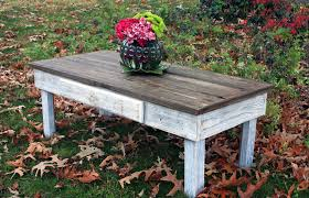 White Distressed Wood Coffee Table Large Coffee Table Reclaimed Wood Rustic Contemporary