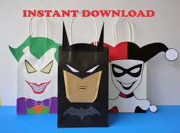 halloween goody bags batman joker harley quinn party favor bags birthday party