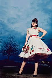 how about a tattooed wedding dress rock n roll bride