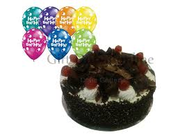 birthday cake and balloon delivery black forest cake balloon cake delivery sharjah online cake