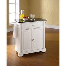 crosley furniture kitchen cart alexandria black granite top kitchen cart white kf30024awh