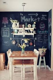 Wooden Furniture Paint Dining Room With Chalkboard Wall Paint And Wooden Furniture