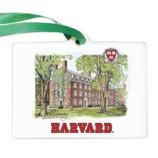 harvard porcelain ornament