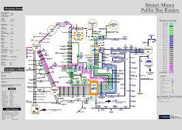 Bus Map Brunei Muara Public Bus Routes Brunei