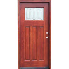 home depot doors interior pre hung pacific entries 36 in x 80 in craftsman 1 lite stained mahogany