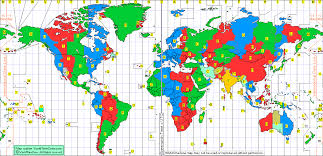 us map divided by time zones time zone chart of the world