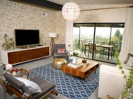 21 beautiful mid century modern living room ideas gold wallpaper