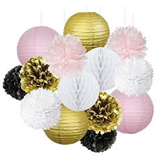 Black And White Ball Decoration Ideas Amazon Com French Parisian Birthday Party Ideas Pink Gold White