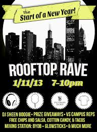 roof top rave at uh central florida rooftop party lights fun