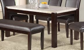 homelegance festus dining table marble top dark cherry 5466 62