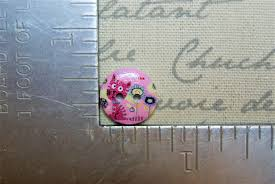 adorable pink cat buttons set of 25