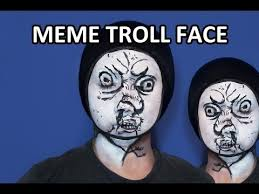 Troll Meme Pictures - troll face meme makeup facepaint youtube