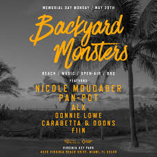 backyard monsters party is back with a stacked line up proper