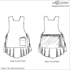 dressed alike apron sewing pattern from indygo junction