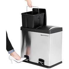poubelle de cuisine a pedale songmics 48 l poubelle de cuisine résistante avec pédales et 2