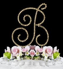 wedding cake jewelry swarovski wedding cake topper gold initial cake jewelry