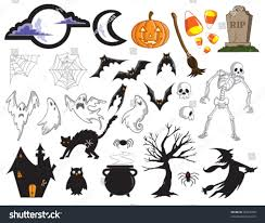 halloween clipart black background vector halloween collection all items easily stock vector 35967280