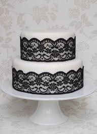 cake lace black lace wedding cake green kitchen cakes