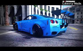 custom nissan skyline r35 nissan gt r r35 libertywalk gta5 mods com