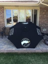 Beer Logo Patio Umbrellas Goose Island Patio Umbrella Beer Sign Collectibles In Tinley