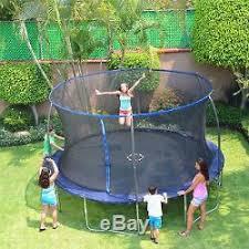 Backyard Gymnastics Equipment Backyard House Patio Trampoline 14 With Proflex Enclosure Kids