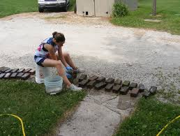 How To Lay Patio Stones by How To Lay Patio Stones On Uneven Ground Home Design Ideas